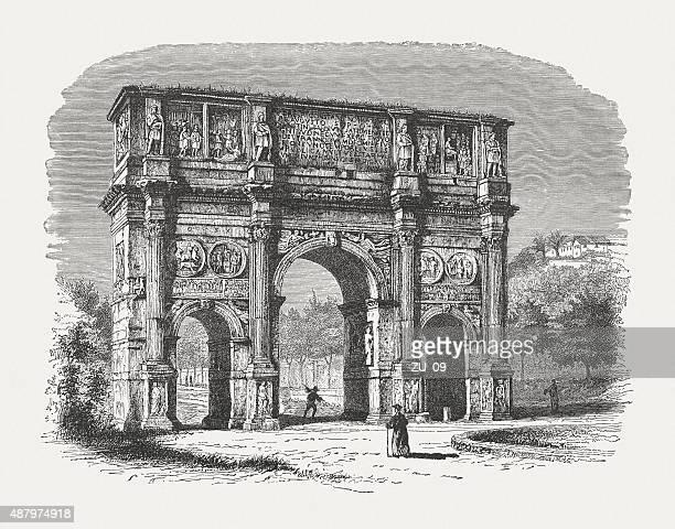 Arco de Constantino em Roma, publicada em 1878