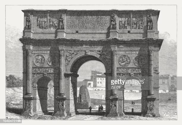Arch of Constantine, Rome, Italy (built 312-315), woodcut, published 1876