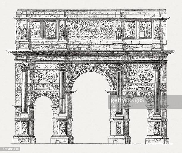 Arco de Constantino, publicada em 1874