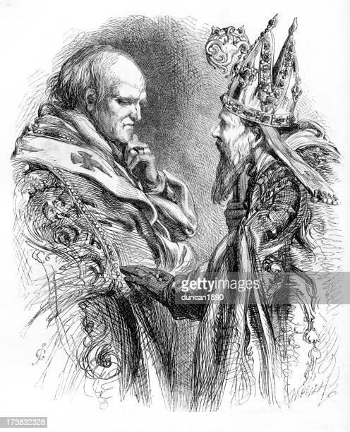 ilustrações, clipart, desenhos animados e ícones de arcebispo e o bispo - bishop clergy