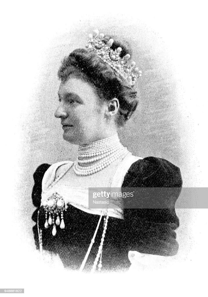 Archduchess Margarethe Klementine of Austria ,Archduchess of Austria by birth ,through her marriage to Albert, 8th Prince of Thurn and Taxis : stock illustration