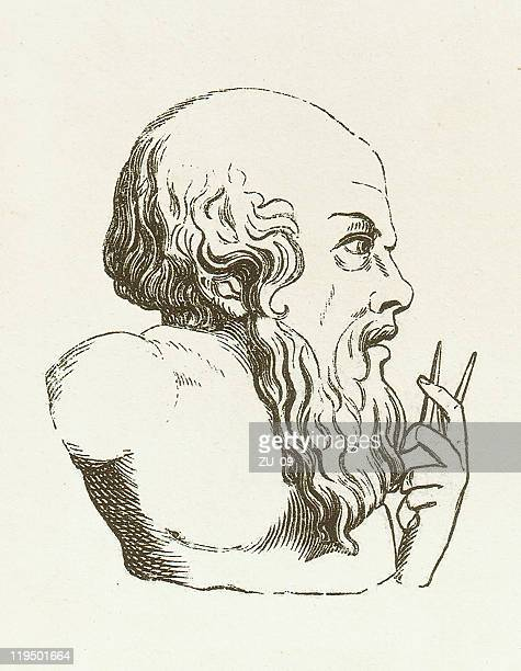 archimedes of syracuse (c.287 bc-212 bc), wood engraving, published 1882 - archimedes stock illustrations