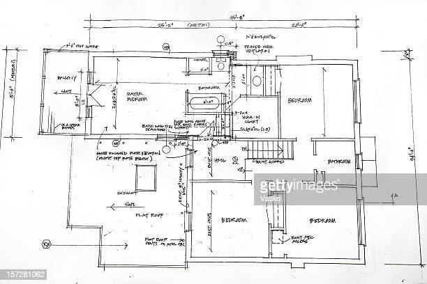 architektonische - 35 - technische zeichnung stock-grafiken, -clipart, -cartoons und -symbole
