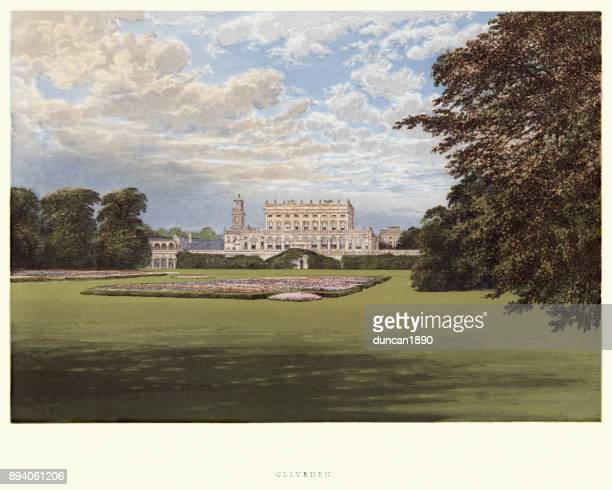 Architecture, English Mansions - Cliveden House, 19th Century