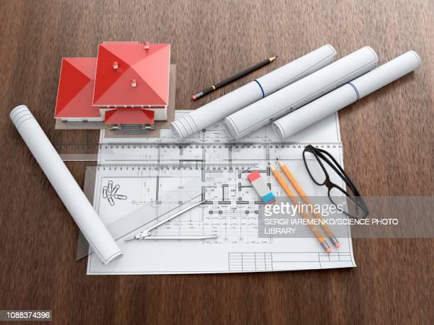 architecture, illustration - architect stock illustrations