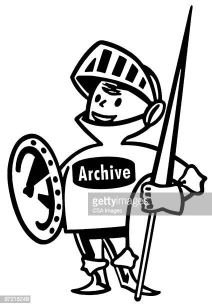 archive knight - one young man only stock illustrations