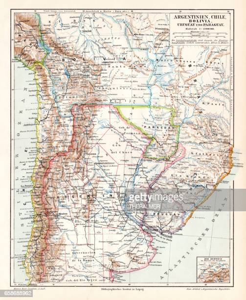 Argentina Chile Bolivia map 1895