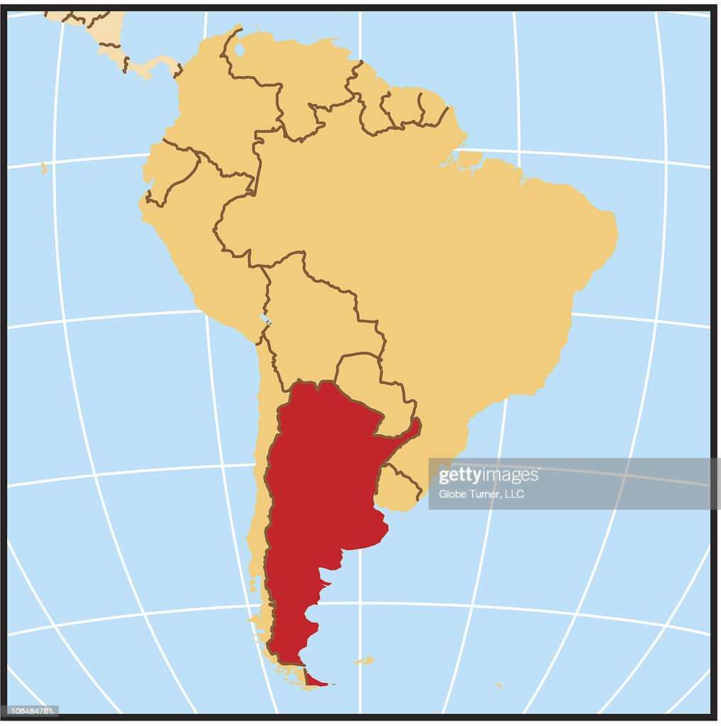 Argentina Locator Map Stock-Illustration - Getty Images