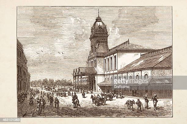 Argentina railway station of Buenos Aires from 1882