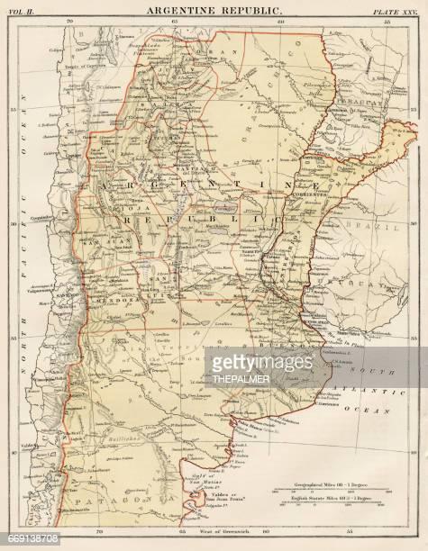 Argentine map 1878