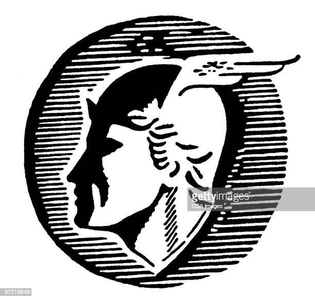 aries - greek culture stock illustrations