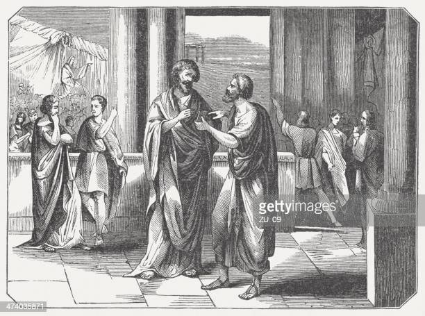 aristides (530 bc-468 bc) exile in athens, published in 1864 - athens georgia stock illustrations, clip art, cartoons, & icons
