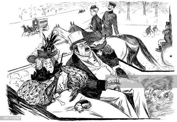 Aristocratic carriage ride - 1896