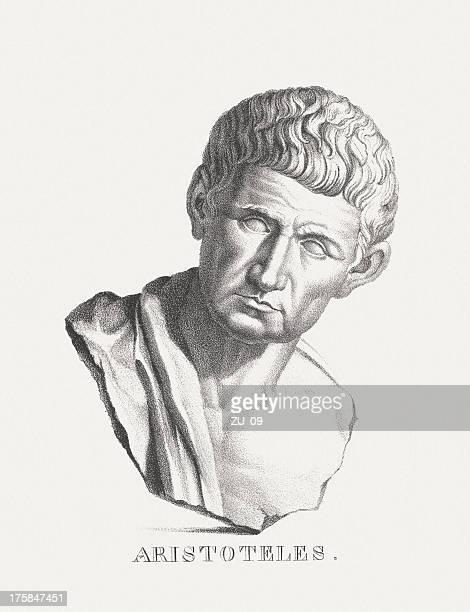 aristotele (384 bc - 322 bc) - aristotle stock illustrations