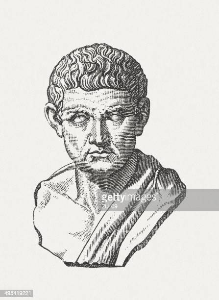 aristotele (384 bc - 322 bc), published in 1881 - greece stock illustrations