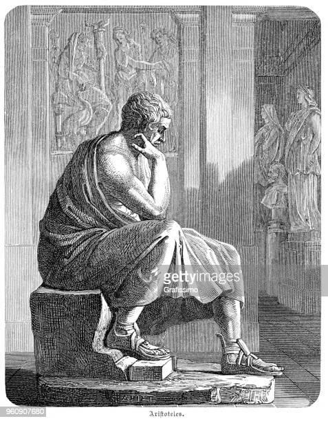 aristotle ancient greek philosopher and scientist 1880 - aristotle stock illustrations