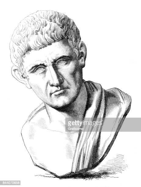 aristotle ancient greek philosopher and scientist 1883 - aristotle stock illustrations