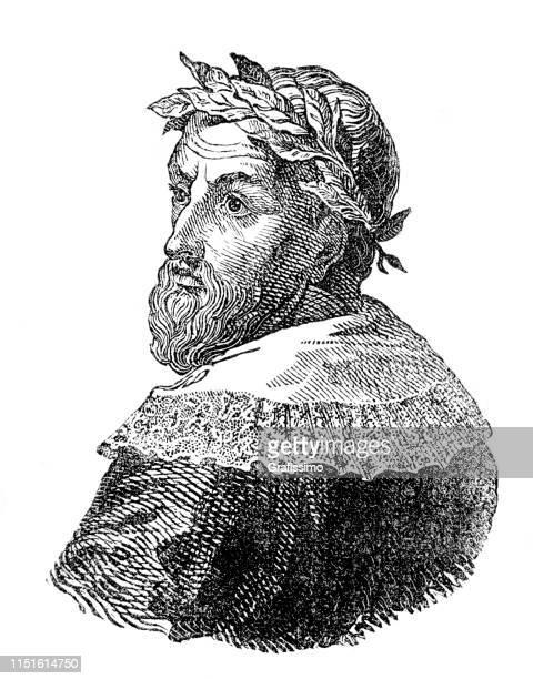 ilustrações, clipart, desenhos animados e ícones de retrato grego antigo do filósofo e do cientista de aristóteles - filósofo