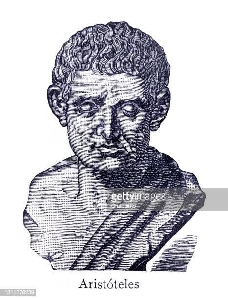 illustrations, cliparts, dessins animés et icônes de portrait de philosophe grec antique d'aristote - literature