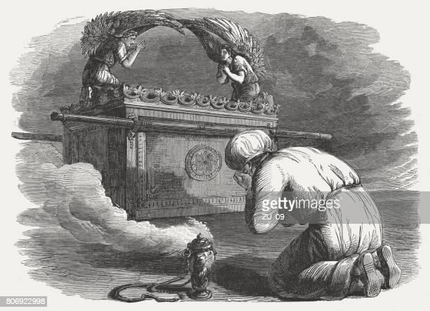 契約の箱 (出エジプト記 39)、木の彫刻、1886 年出版 - ノアの方舟点のイラスト素材/クリップアート素材/マンガ素材/アイコン素材
