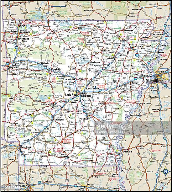 Arkansas Highway Map Vector Art   Getty Images