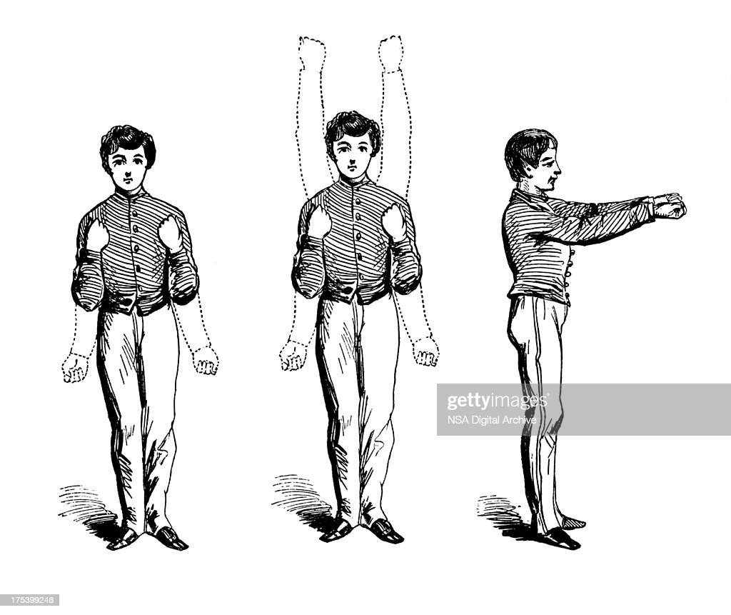 Arm exercises   Antique Sports Illustrations : Stock Illustration