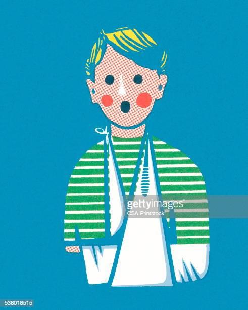 ilustraciones, imágenes clip art, dibujos animados e iconos de stock de en un cabestrillo de brazo - maltrato infantil
