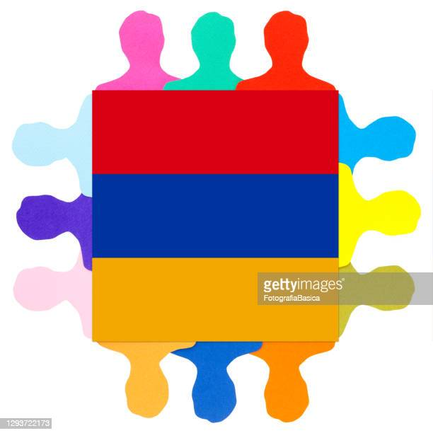 armenian men - armenian flag stock illustrations