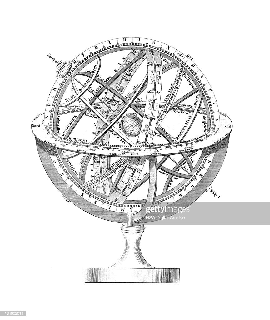 Armillary Sphere: A Scheme of Earth and the Stars : Stock Illustration