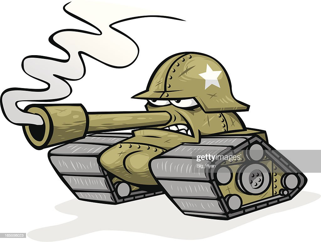 Cartoon Army Tank