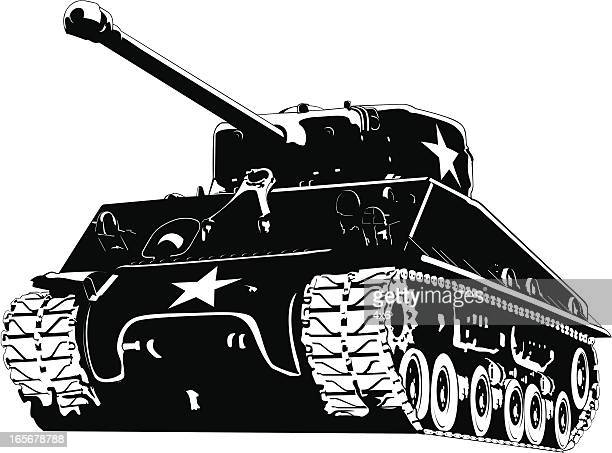 army tank - armored tank stock illustrations