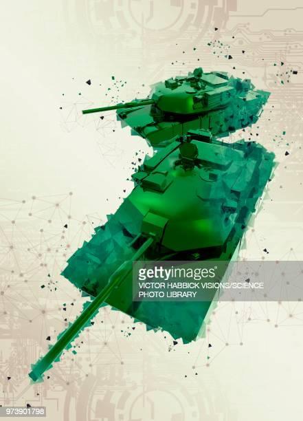 army tanks, illustration - war stock illustrations