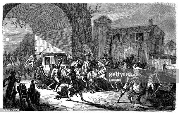 illustrations, cliparts, dessins animés et icônes de arrestation de louis xvi de varennes le 21 juin 1791 - louis 16
