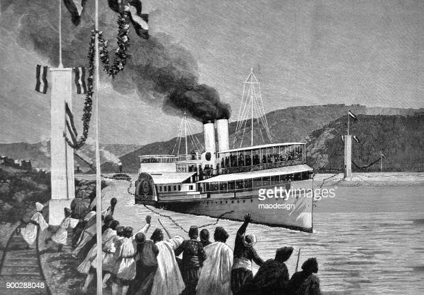 Arrival of the ship in harbour -1896