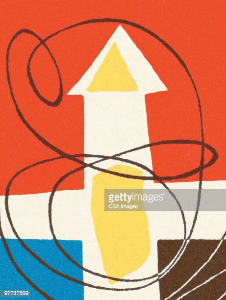 arrow abstraction - abstract pattern stock illustrations