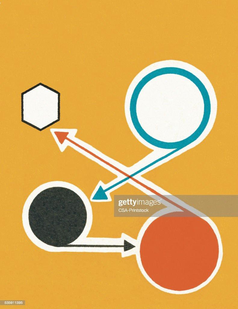 Flecha de dirección : Ilustración de stock