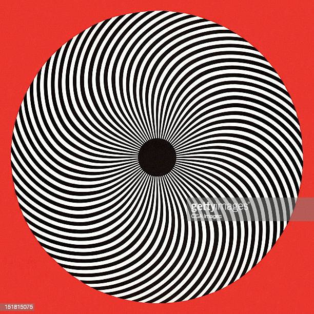 op art circle - spiral stock illustrations