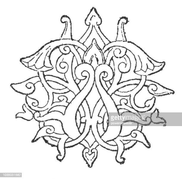 Art Nouveau Style Decorative Ornament Design