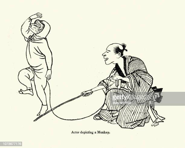 Art of Japan, Actor depicting a monkey