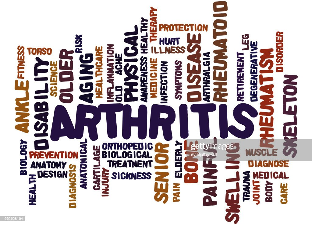 Arthritis Word Cloud Concept 9 Stock Illustration