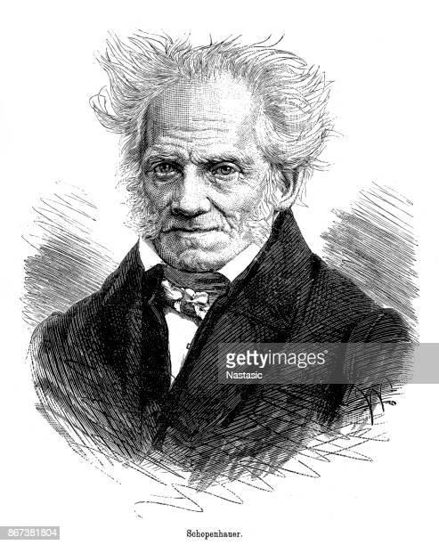 arthur schopenhauer (1788-1860), german philosopher - fine art portrait stock illustrations, clip art, cartoons, & icons