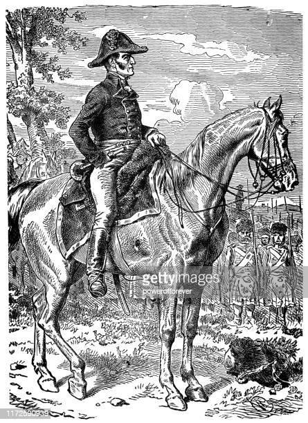 arthur wellesley, 1st duke of wellington - 19th century - british culture stock illustrations