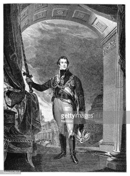 stockillustraties, clipart, cartoons en iconen met arthur wellesley de hertog van wellington, 1.5.1769 - 14.9.1852, britse algemene en politicus, volledige lengte - hertog