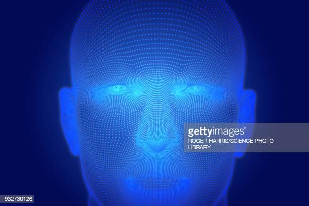 artificial intelligence, conceptual illustration - artificial intelligence stock illustrations