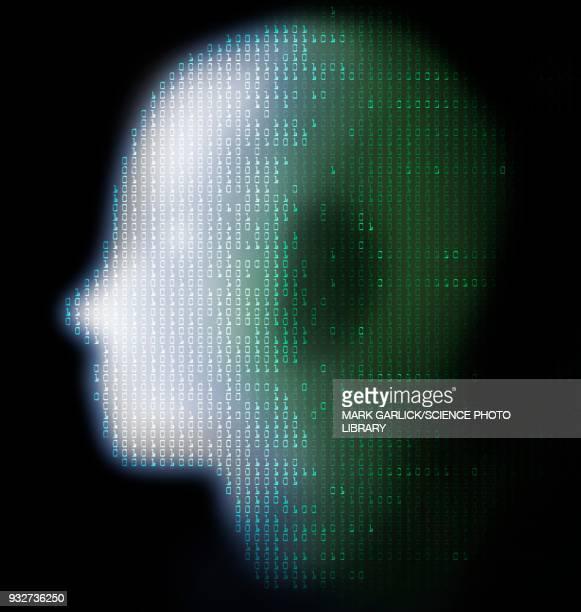 artificial intelligence, conceptual illustration - alertness stock illustrations
