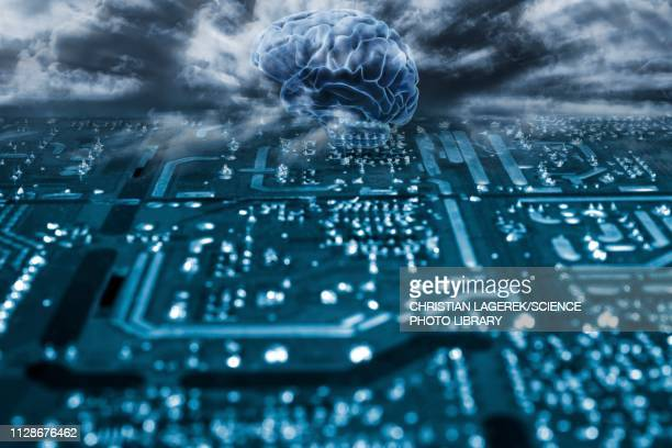 artificial intelligence, conceptual image - machine learning stock illustrations