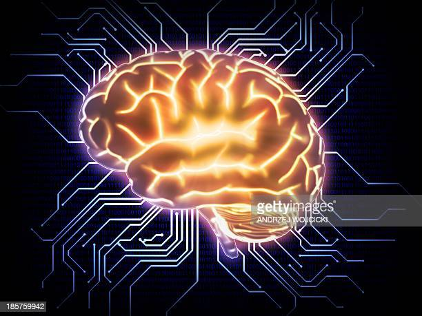 artificial intelligence, conceptual image - computer chip stock illustrations, clip art, cartoons, & icons