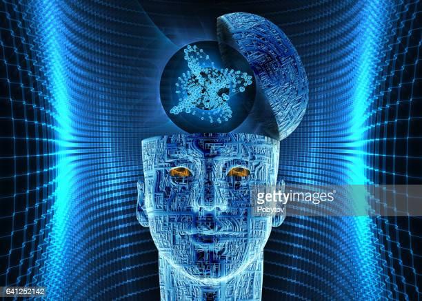 intelligence artificielle, composition futuriste