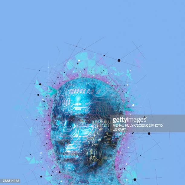 artificial intelligence, illustration - artificial intelligence stock illustrations
