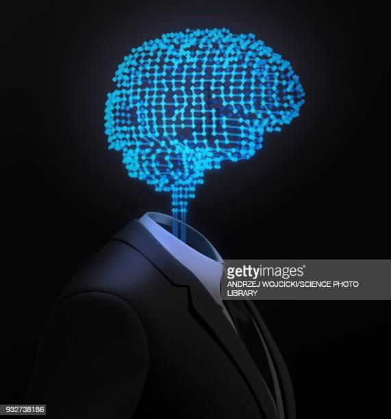 artificial intelligence, illustration - machine learning stock illustrations